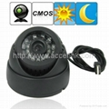Dome 1/4 Inch CMOS CCTV Camera Security Monitor TF Card Digital Video Recorder