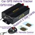 GPS103B+ Remote Control Car GPS Vehicle Tracker W/ Central Locking Detection 1