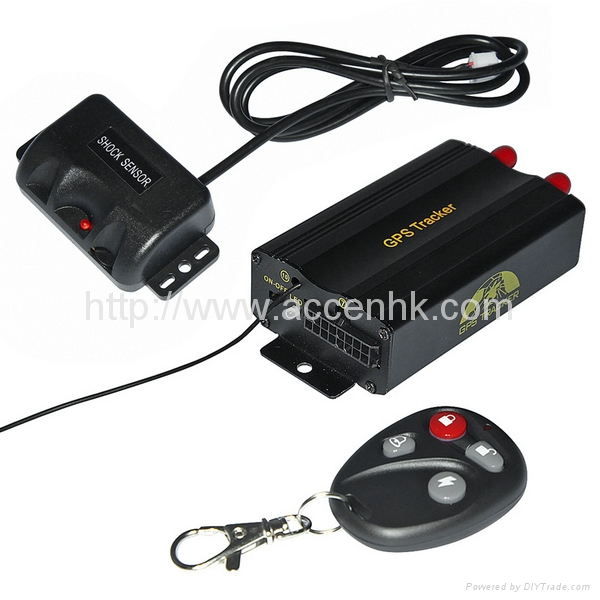 GPS103B+ Remote Control Car GPS Vehicle Tracker W/ Central Locking Detection 3