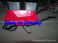 Strong Angola Wheelbarrow-WB6400S with large rubber&plastic wheel