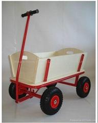 Children Wood Wagon Trol