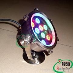 水底灯、水下灯、喷泉灯、泳池灯(FH-SC155-9W)