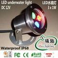 LED underwater light/LED Swimming pool/LED fountain light(FH-SC090-3W)