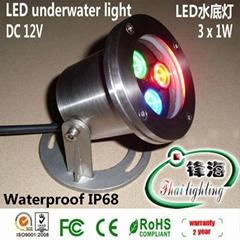 水底灯、水下灯、喷泉灯、泳池灯(FH-SC090-3W)