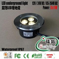 超薄款3W led埋地灯地埋灯