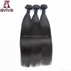 Top quality unprocessed 100% remy Peruvian virgin human hair