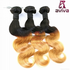 "Brazilian virgin hair Body Wave 20""- T1B/27#"