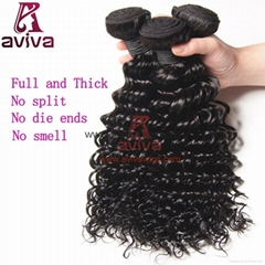 Brazilian virgin hair  Deep Wave 22""