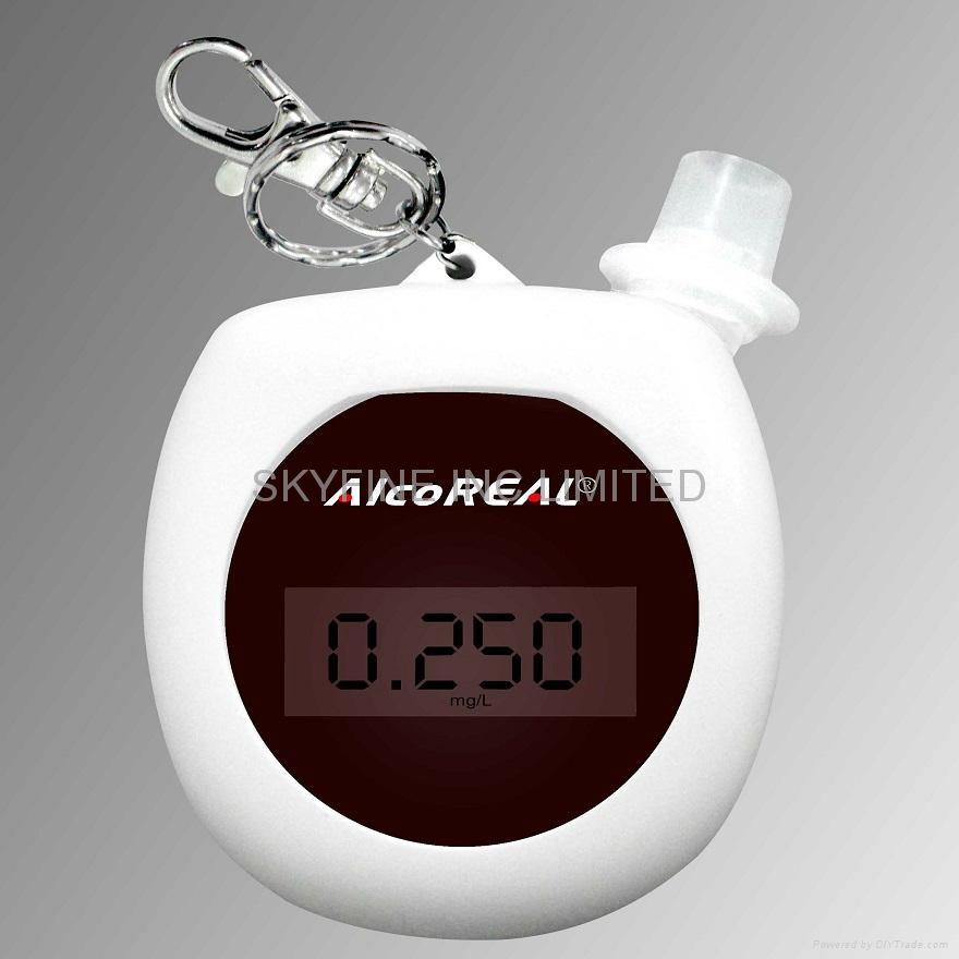 Keychain Breathalyzer with Recharge Battery and New Semiconductor Senso
