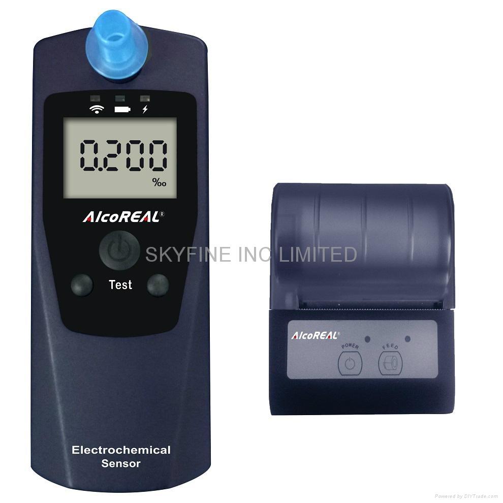 警用电化学酒测仪含无线打印功能 1