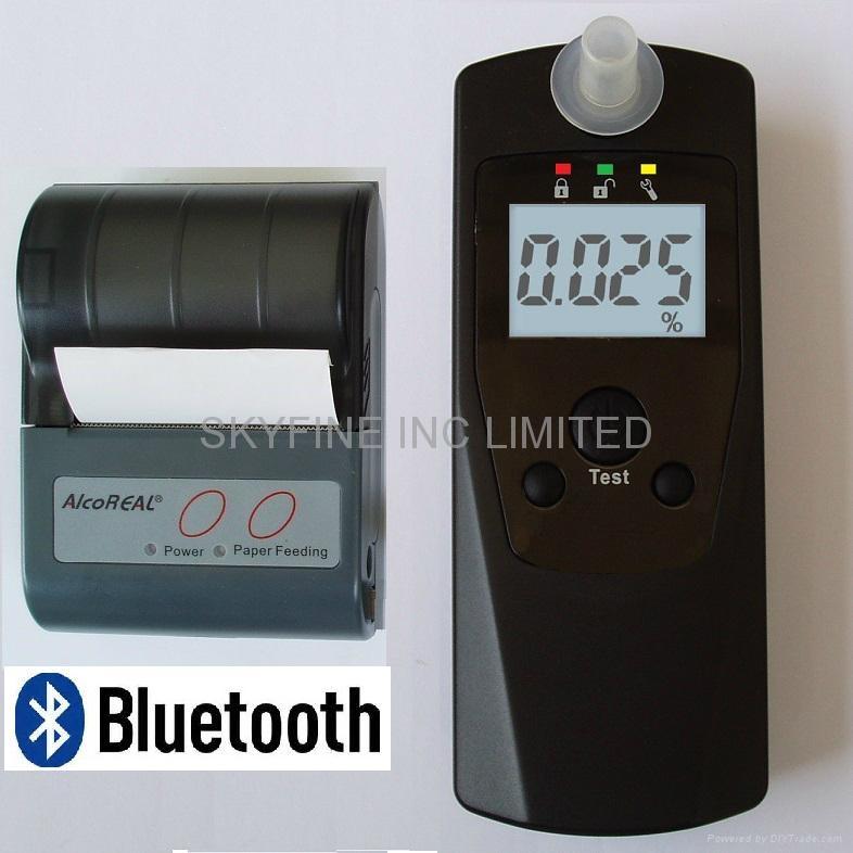 商用电化学酒测仪含无线打印功能 1