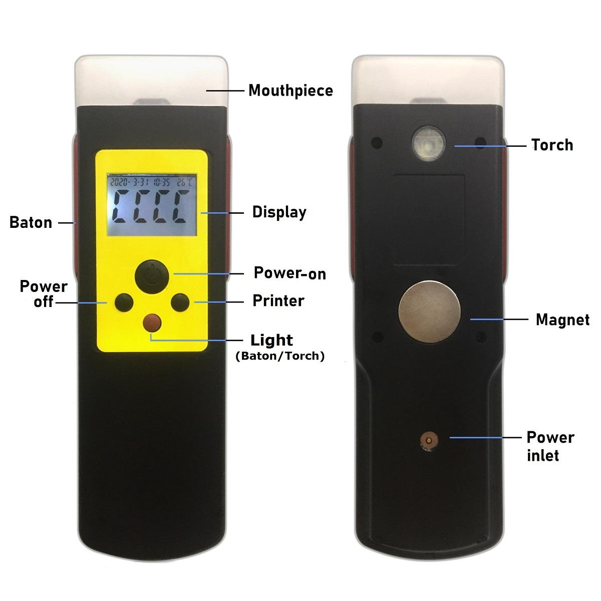 快篩型警用電化學酒測儀含藍芽及串口輸出 3