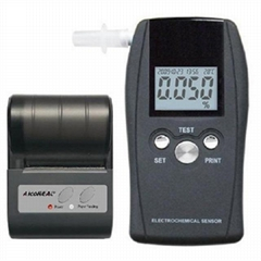 Breathalyzer with Printer Port and 1000 Memory