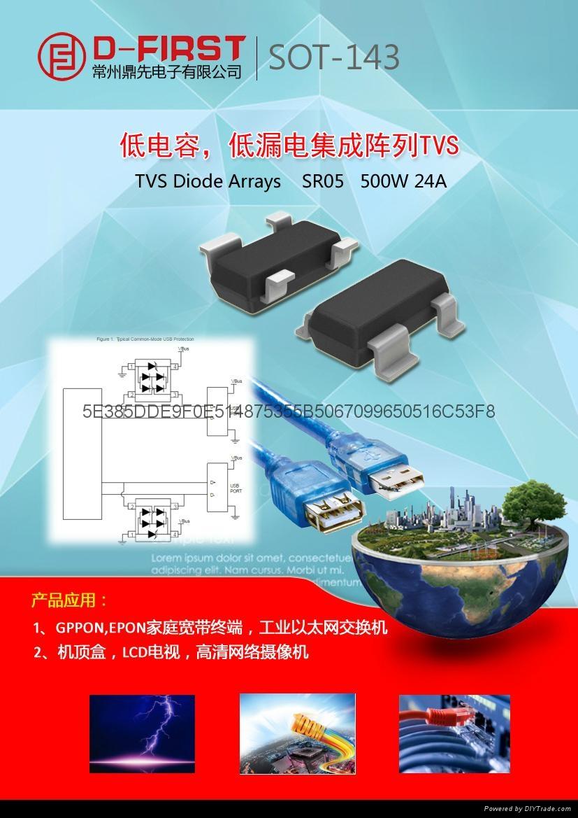 低电容瞬态抑制二极管GBLC03C  BV03C 1