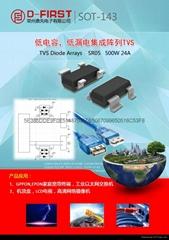 低电容,瞬态抑制二极管GBLC03C 05C 08C