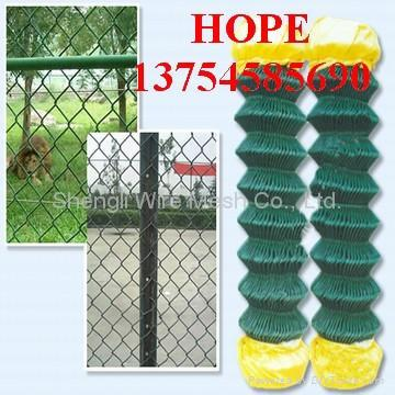 ga  anized and pvc chain link fence 2