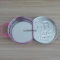 马口铁半圆形玩具手挽糖果罐