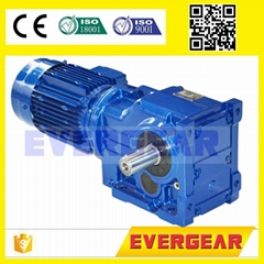 MTJ series  Helical bevel gear motor gearbox speed reducer