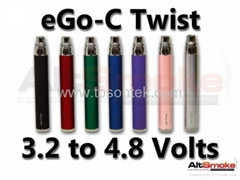 The economic ego c twist blister with adjusted voltage  battery