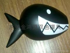 鲨鱼锁双色模具