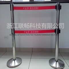 HF-D型 不鏽鋼單帶伸縮式圍欄