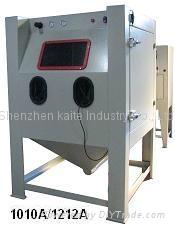 Suction sand blast cabinets