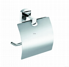 Bathroom accessories - Toilet roll holder with lid