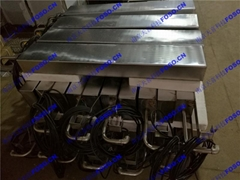 Input type ultrasonic cleaning shock plate