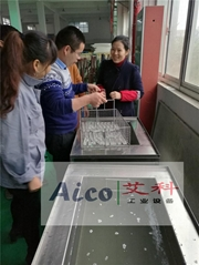 南京艾科-鋼化玻璃超聲波清洗機