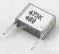 CL25 metallized polyester film stacked capacitors