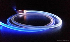 Newest Visible Flashing LED Bright 8 Pin To USB Charging Charger Data Cable Cord