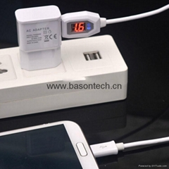 High Quality Fast Charging Sync Data Micro USB Cable With LCD Current Display Fo