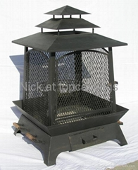 wood burning patio heater