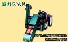 毅政牌ZL1TW型拖拉机自走式带喂料器的免剥皮玉米脱粒机