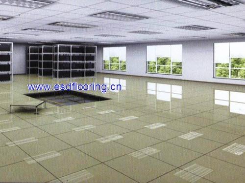 全钢陶瓷面防静电机房架空活动地板 1