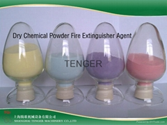 Dry powder chemical fire