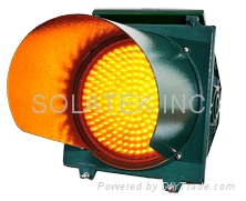 "H-8951 12"" Solar Traffic Flashing Warning Light"