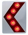H-945-R Solar Flasher Single Arrow Directional Sign