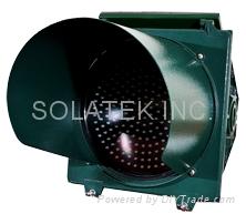"""H-8951 12"""" Solar Traffic Flashing Warning Light 2"""
