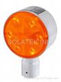 H-906 Double Side Solar Road Edge Warning Light (Aluminum Round Case)