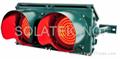 "H-9622 Solar 8"" Traffic Warning Twin Flashers"