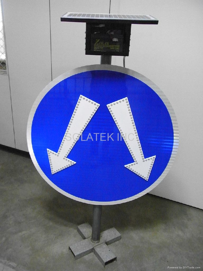H-114 Pass either side solar LED sign