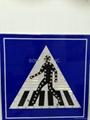 H-124 Solar Pedestrian Crossing Sign