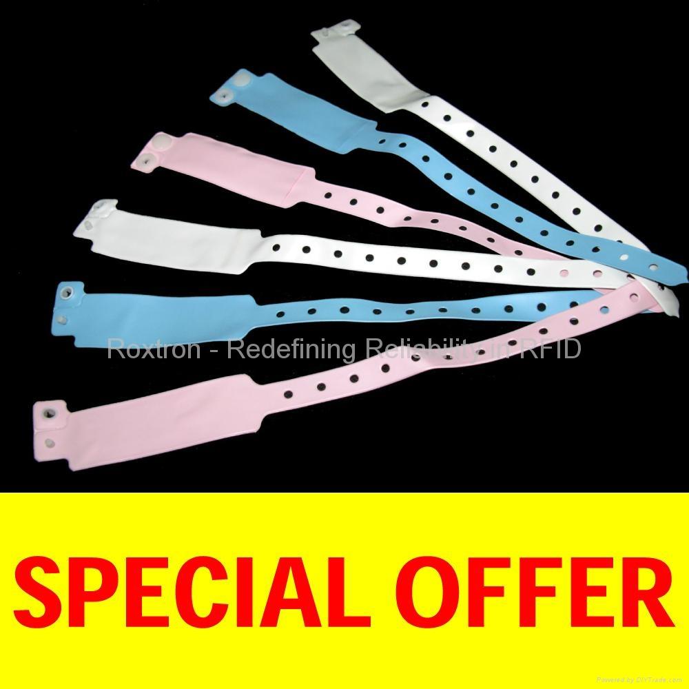 ROXTRON MIFARE 4K Disposable RS06 Wrist Strap
