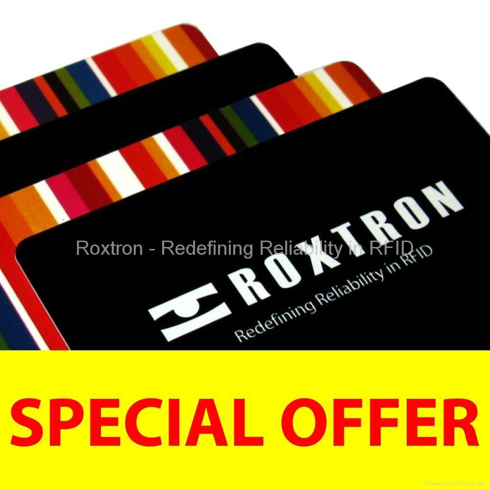 ROXTRON ICODE SLI + UHF Class 1 Gen2 Dual Frequency PVC ISO Card