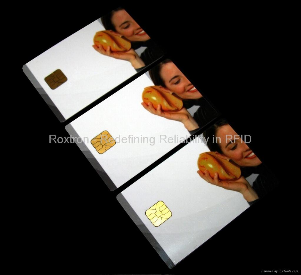 ROXTRON SLE4442 + TK4100 Dual Interface PVC ISO Card