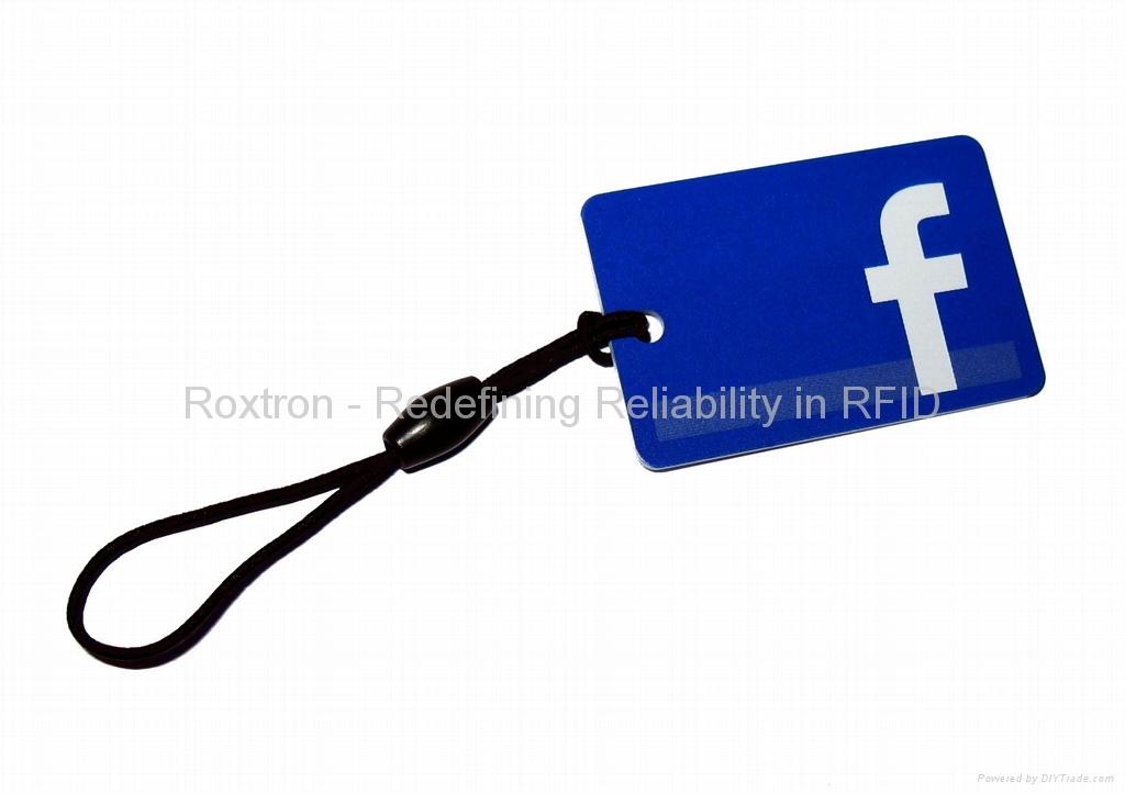 ROXTRON MIFARE DESFire EV1 4K RXK06 Custom Shape Key Tag