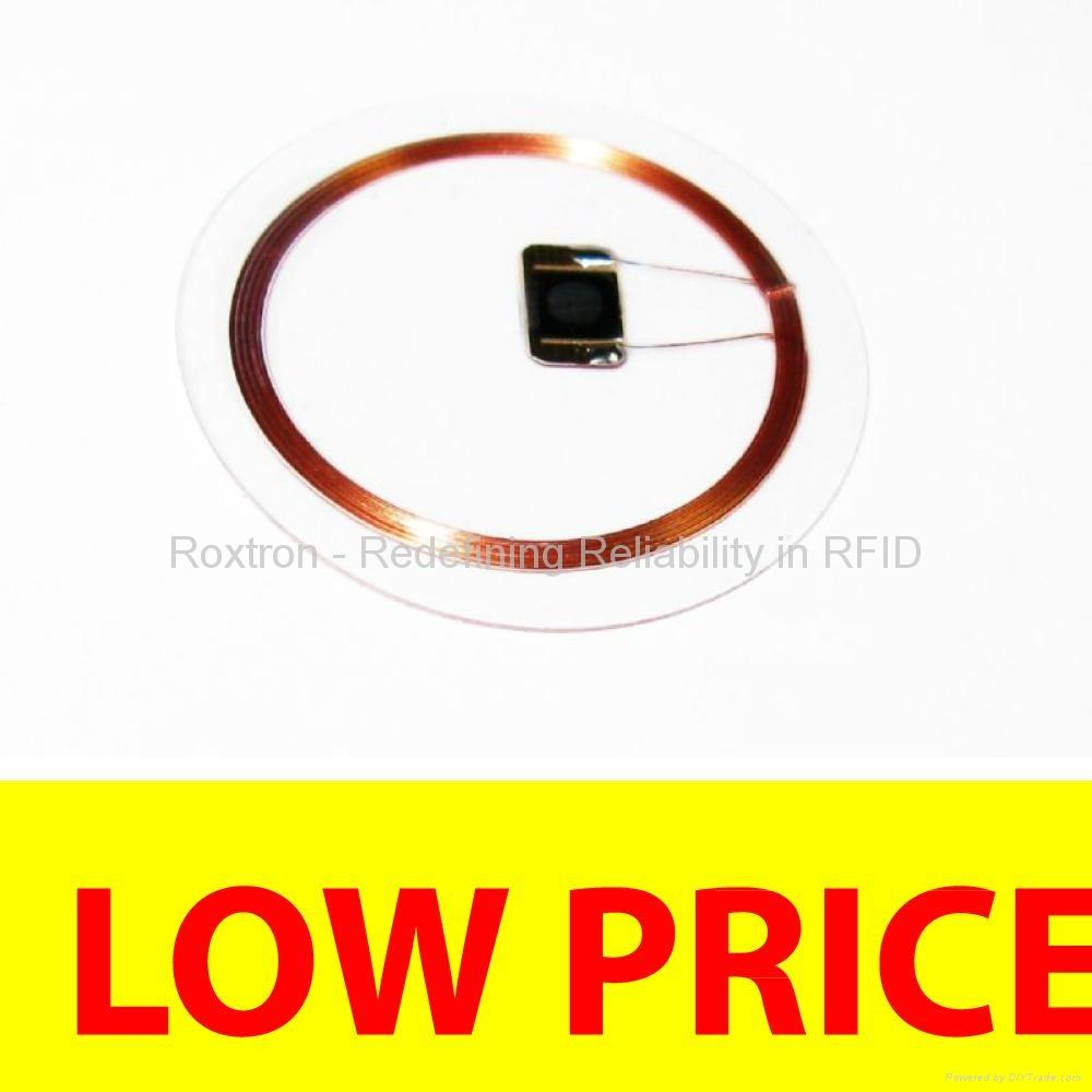 ROXTRON 13.56 MHz Transparent Disc Tag