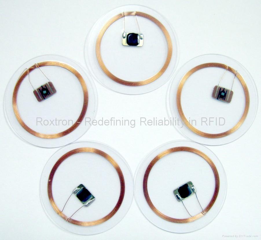 ROXTRON nfc clear disc tag