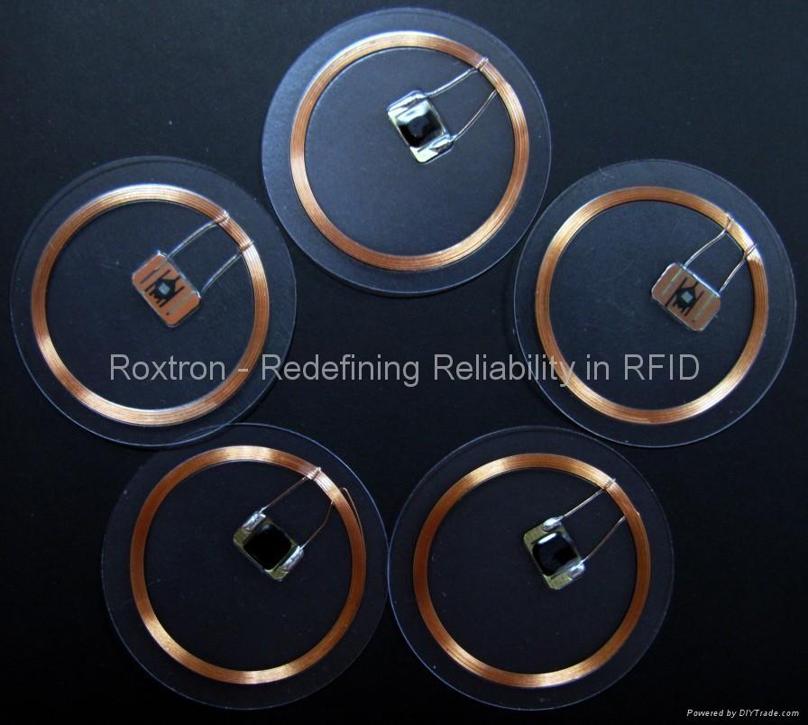 ROXTRON 13.56 mhz clear tag